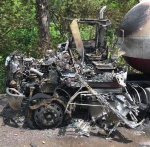 Two hurt, tanker trucks destroyed in Pittston Twp. fire