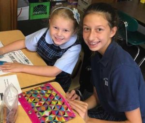 Holy Rosary School students in Duryea participate in 'Buddy Up' program
